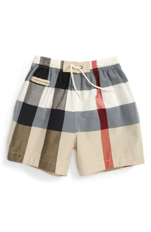 BURBERRY Baby Boy//Infant/ toddler 181378 Check Swim Trunks Swimwear Size 12M