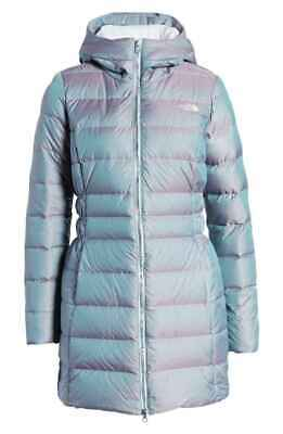 The North Face WOMENS Blue IRIDESCENT Frost GOTHAM II Winter PARKA Jacket  S M