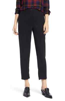 New $259 Treasure & Bond Women'S Black Cropped Menswear Trouser Pants Size 28 Menswear Crop Pants