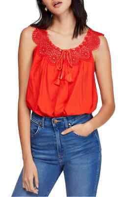 Free People Womens Clovet Croft Crochet Camisole Cropped Top Size M
