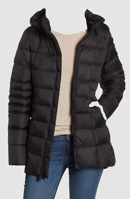 $615 The North Face Women's Black Hooded Weatherproof Goose Down Jacket Size M