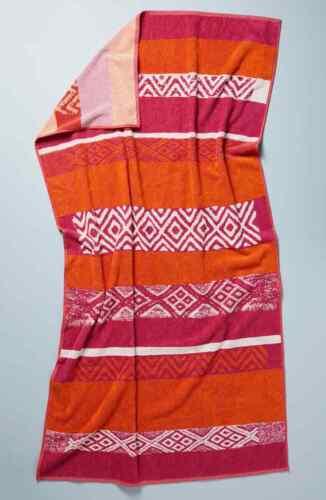 Anthropologie Beach Towel Marta Geo Magenta Orange 40 x 70 New 3 avail 550 gram