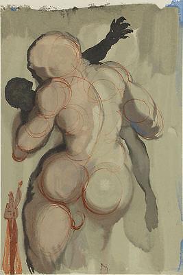Salvador Dali, Divine Comedy, Purgatory, Canto 6: Death by Violence, Woodcut