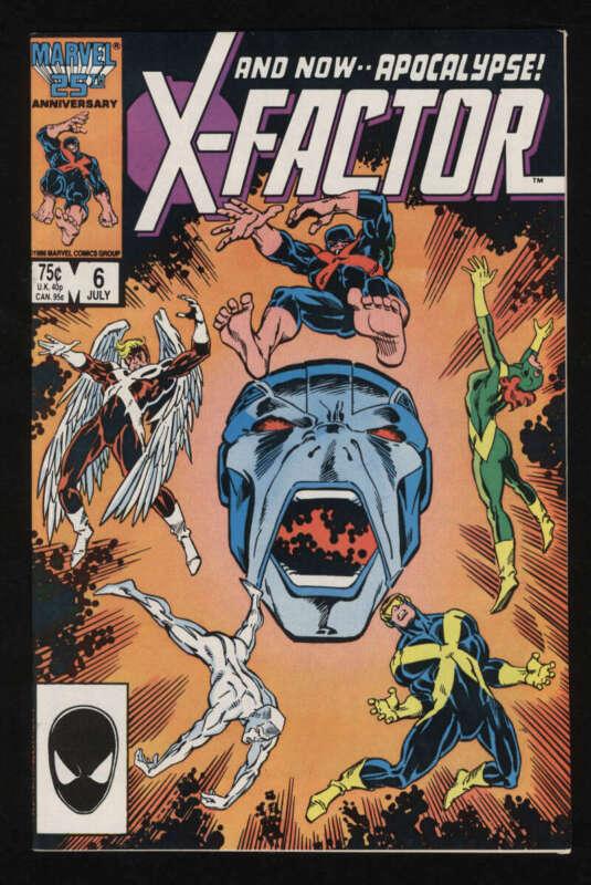 X-Factor #6 NM 9.4 White Pgs 1st Apocalypse Marvel Comics