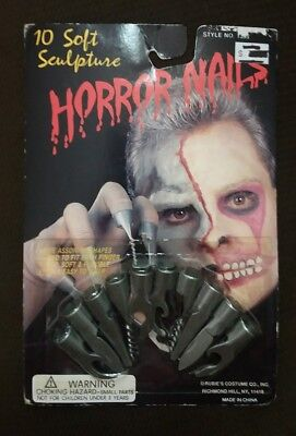 Rubie's Blade Silver Horror Nails Fake Rubber Plastic Halloween Costume