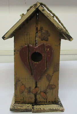 Tellon Collection Handcrafted Rustic Bird House With Clean-out New 0