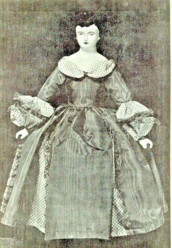 """20""""CHINA HEAD/PARIAN FRENCH FASHION LADY DOLL CLOTH BODY DRESS UNDERWEAR PATTERN"""