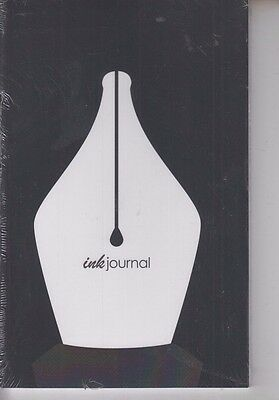 InkJournal Ink Journal Black Notebook for Pen Collectors 8.5 x 5.5