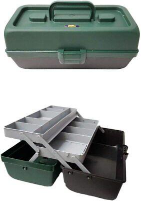 Valigetta valigia cassetta da pesca porta attrezzi 2 piani in plastica dura