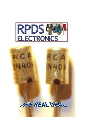2ea Rca 2n406 Germanium Pnp Transistor To1 Case Nos Nib