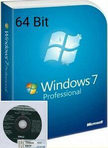 Windows 7 Professional CoA + Full OEM installation disc 64-bit SP1 +broken PC