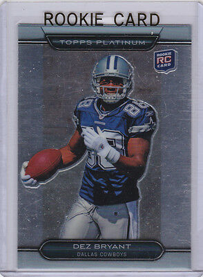 DEZ BRYANT ROOKIE CARD Topps Platinum 2010 NFL RC Dallas Cowboys Football