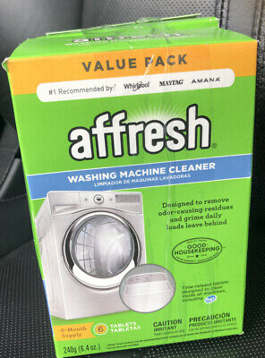 Affresh Washing Machine Cleaner, 2 Boxes of 6 Tablets (12 Tablets) W10501250
