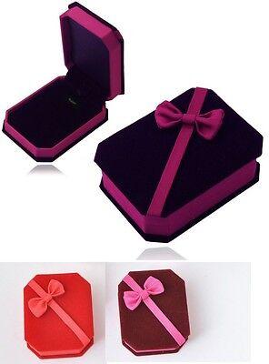 - Deluxe Butterfly VELVET Necklace Pendant Earrings Presentation Jewelry Gift Box