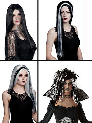 REY HALLOWEEN WITCH VAMPIRE FANCY DRESS COSTUME WIG NEW (White Witch Fancy Dress Kostüm)