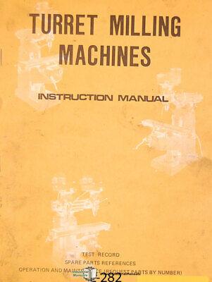 Lagun Ftv-2 Milling Machine Instruction And Parts Manual