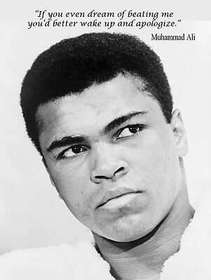 MUHAMMAD ALI  RETRO STYLE INSPIRATIONAL QUOTE METAL TIN SIGN HOME DECOR GIFT