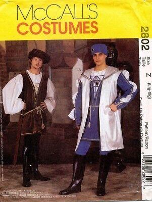 Mccall's Herren Renaissance Kostüm Muster 2802 Größe L-XL (Renaissance Herren Kostüm Muster)