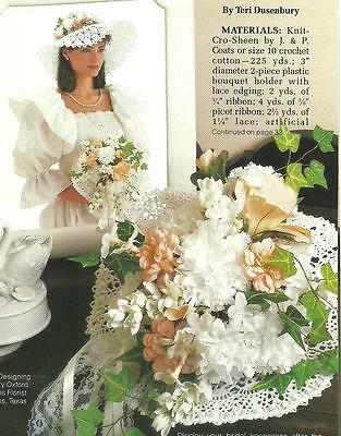 Bridal Bouquet Sun Hat Crochet Pattern Instructions Ebay