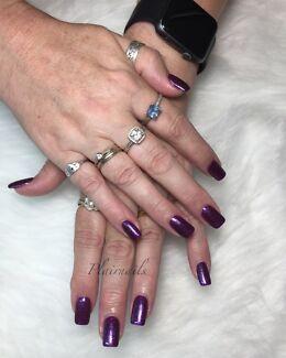 Acrylic nails, pedicure, manicure gel polish