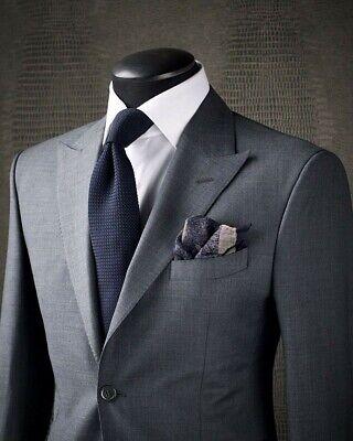 Männer Herren Anzüge (2 Stück Grau Männer Anzüge Smoking Herren Anzüge Hochzeitsanzug EU 44-62)
