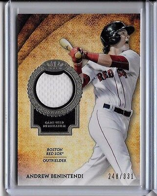 Andrew Benintendi   248 331 Patch Card 2017 Topps Tier One