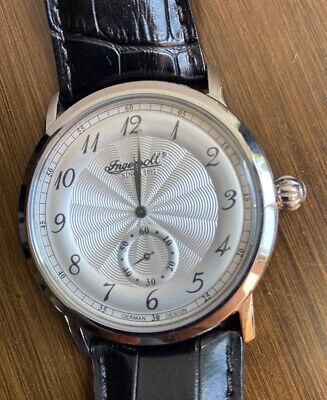Ingersoll Men Quartz Watch Black Leather Strap - Excellent Condition!