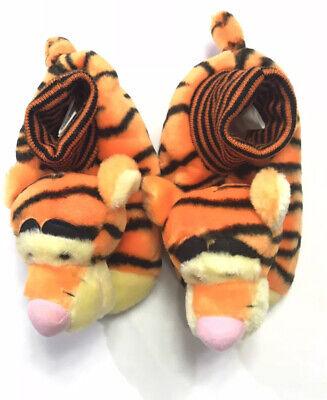 Disney Winnie The Pooh Plush Tigger Slippers Size 9-10 -