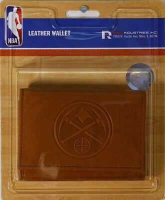 Denver Nuggets NBA Embossed Leather Trifold Wallet FREE US (Denver Nuggets Wallet)