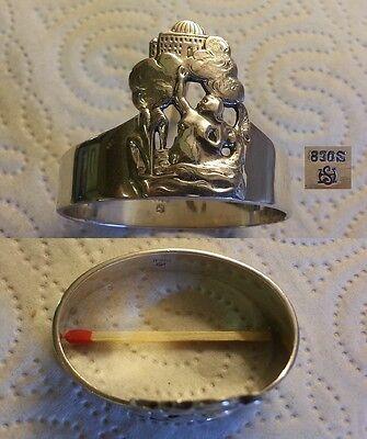 Kleine Meerjungfrau Ringe (W&S Sörensen - 830er Silber - Märchen - Serviettenring Die kleine Meerjungfrau)
