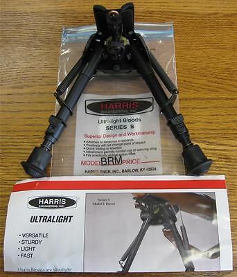 New Harris Brms 6 9  Leg Notch Swivel Bipod Bench Prone Rifle Sling Swivel Mount