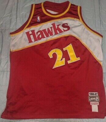 NBA Mitchell & Ness Jersey Atlanta Hawks Wilkins 1986-87 hardwood classics Sz-L