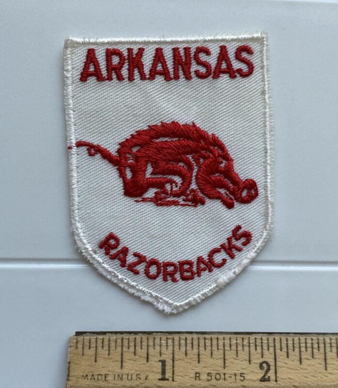 University of Arkansas Razorbacks Mascot Red White Souvenir Embroidered Patch