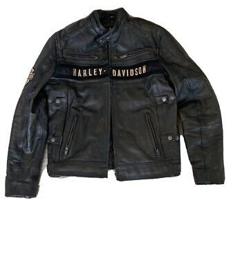 Vintage Style Harley Davidson motorcycle leather jacket  (Small)