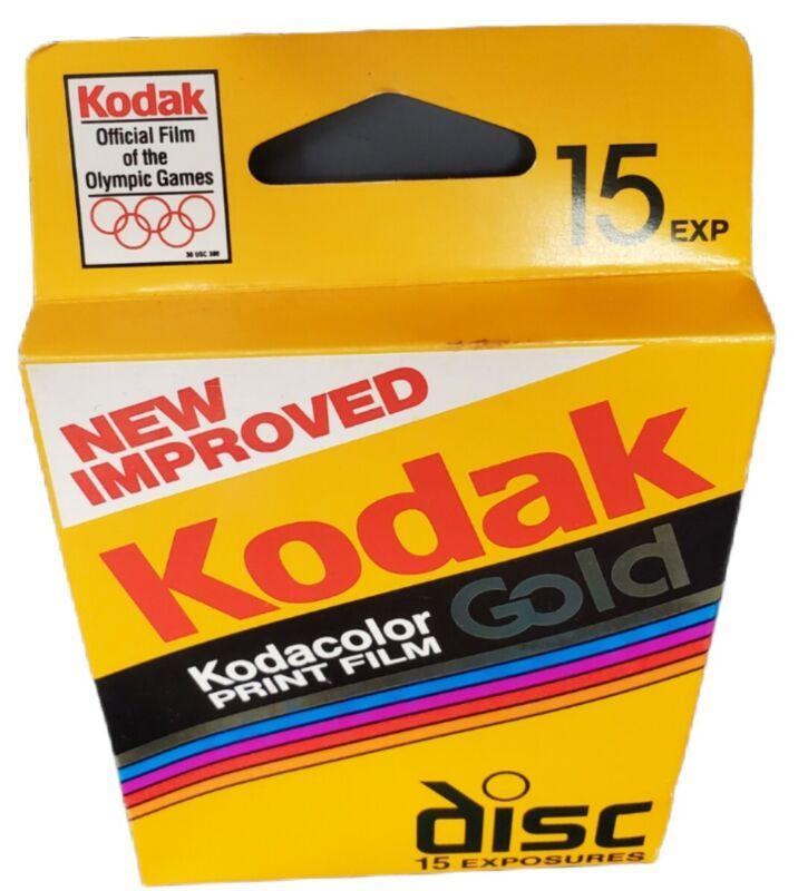 Kodak Disc Film Kodacolor Gold (VR/HR) 15 exp  Sealed Film Disk Vtg Exp 11/95