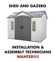 OUTDOOR SHED / GAZEBO ASSEMBLERS NEEDED BARRIE / ORILLIA