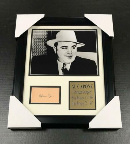 AL CAPONE GANSTER Autographed Cut Signature Facsimile Framed 8x10 Photo
