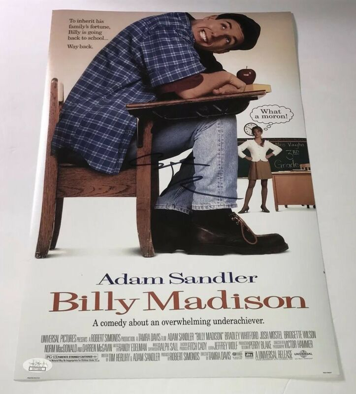 Adam Sandler Signed BILLY MADISON 11x17 Photo IN PERSON Autograph JSA COA
