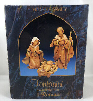 "Fontanini by Roman Classic Holy Family Nativity Set 3 Piece 71503 5"" Christmas"