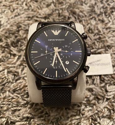 Emporio Armani AR1979 Blue/Dark Grey Stainless Steel Analog Quartz Men's Watch