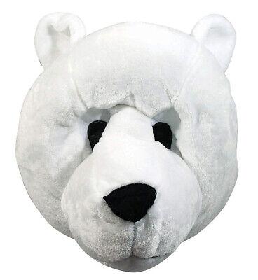 Polar Bear Mascot Adult Full Face Animal Costume Funny Halloween Mask - Bear Halloween Face