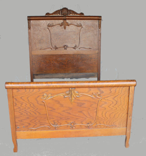 Antique Oak Bed original finish - Full Size -