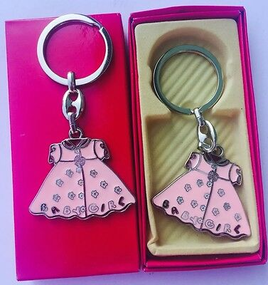 Baby Dress Favor (12pcs Pink Girl Dress Key Chain Baby Shower Party Favor W/Gift Box )