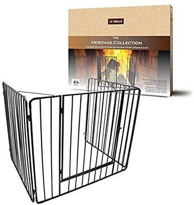 De Vielle Child Safety Metal heritage Black Fire Guard Screen Hearth Gate
