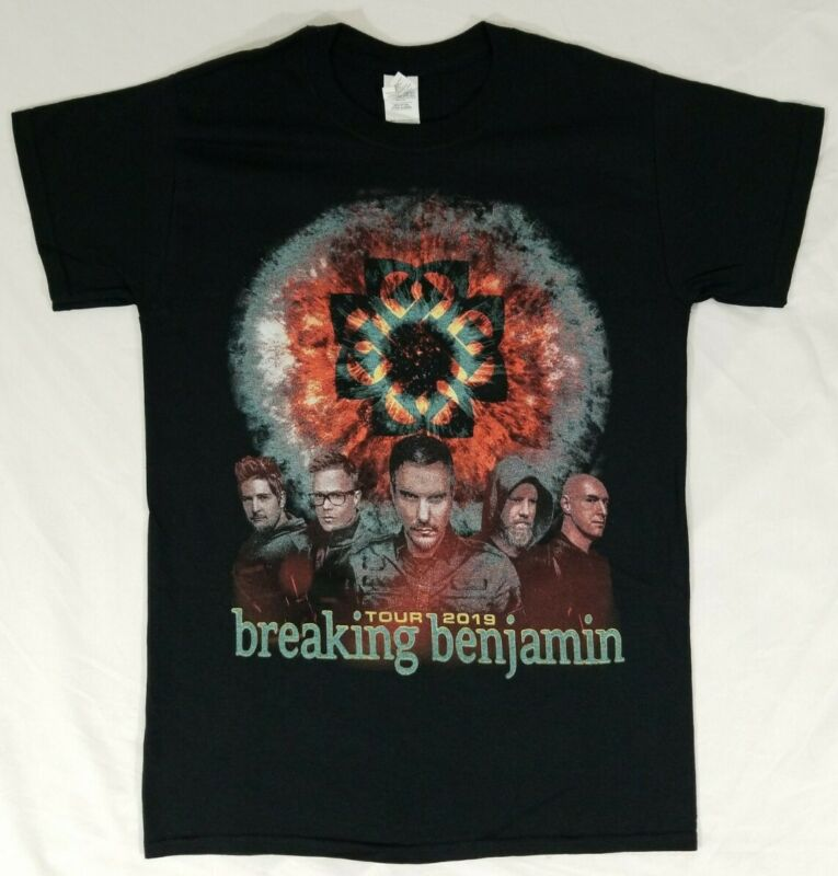Breaking Benjamin 2019 Concert Tour T-Shirt Black Double Sided Size S Hard Rock