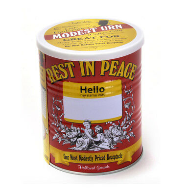 Modest Urne - Rest in Peace Kaffee Dose - Modestly Bepreist Asche