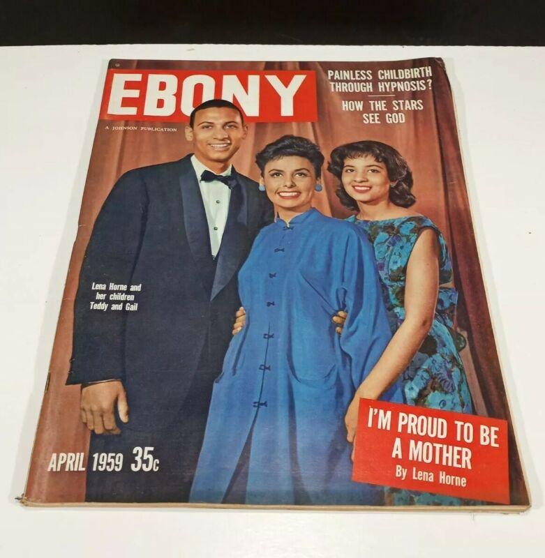 Vintage April 1959 Ebony Magazine Lena Horne