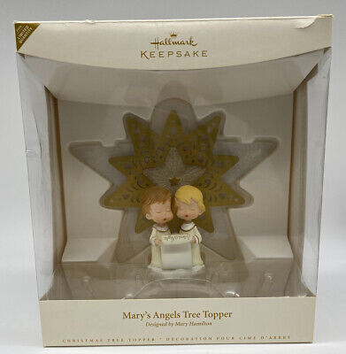 READ- DAMAGED! Hallmark Keepsake 'Mary's Angels Tree Topper' 2006  Christmas