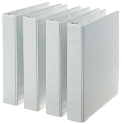 3-ring Binder 1.5 Inch Rings - 4-pack White Free Fast Shipping