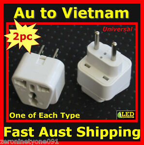 Au Nz Universal To Vietnam Premium Travel Plug Adaptor